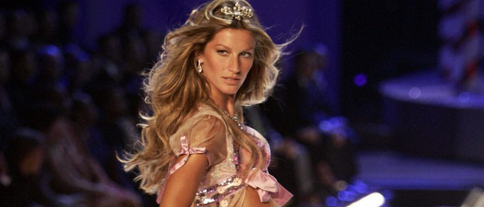 Supermodel Gisele Bundchen appears on stage during the Victoria's Secret Fashion Show in New York 09 November 2005. The show will be televised on CBS on 06 December 2005. (Photo credit: TIMOTHY A. CLARY/AFP/Getty Images)