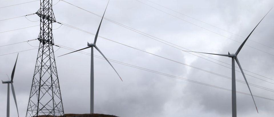 First Bosnian windmills are seen on the wind farm in Mesihovina