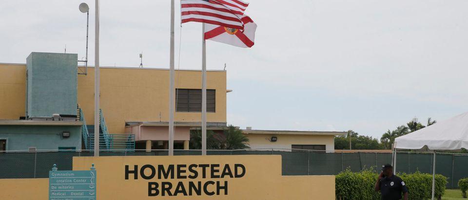 U.S. Sen. Bill Nelson (D-FL) visits the Homestead Temporary Shelter For Unaccompanied Children