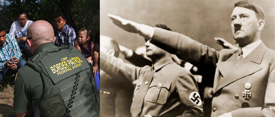 Amazon employees compared the company's ICE contract to working for Hitler. (Image: John Moore/Getty Images and Shutterstock.com)