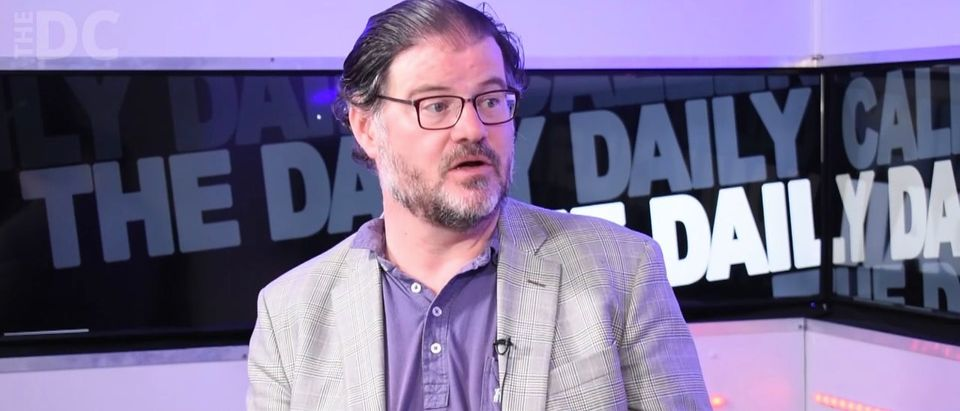 Jonah Goldberg appears on The Daily Daily Caller Podcast Friday, June 8, 2018, in the Daily Caller studios. (Photo: Screenshot/The Daily Caller)