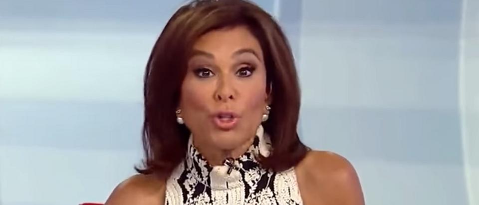 Judge Jeanine Pirro blasted MSNBC host on Hannity (image via Fox News screengrab)