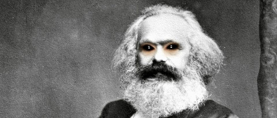 Karl Marx with demon eyes public domain