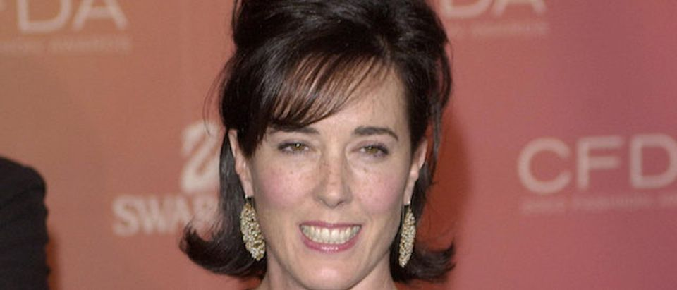 Kate Spade arrives at the Council of Fashion Designers of America awards in New York