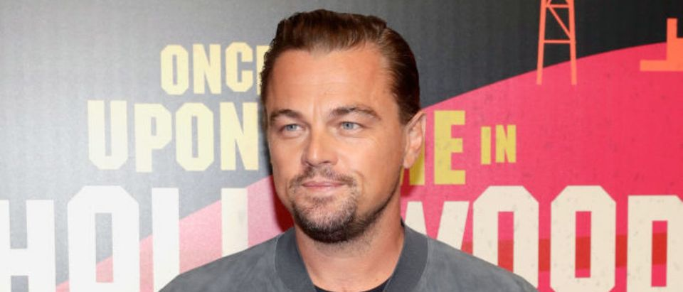 LAS VEGAS, NV - APRIL 23: Actor Leonardo DiCaprio attends the CinemaCon 2018 Gala Opening Night Event: Sony Pictures Highlights its 2018 Summer and Beyond Films at The Colosseum at Caesars Palace during CinemaCon, the official convention of the National Association of Theatre Owners, on April 23, 2018 in Las Vegas, Nevada. (Photo by Isaac Brekken/Getty Images for CinemaCon )