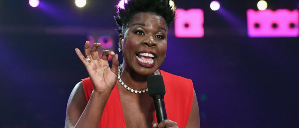 LOS ANGELES, CA - JUNE 25: Host Leslie Jones speaks onstage at 2017 BET Awards at Microsoft Theater on June 25, 2017 in Los Angeles, California. (Photo by Paras Griffin/Getty Images for BET)
