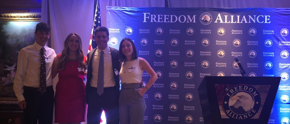 Award recipients at the Freedom Alliance dinner. (Courtesy of Mary Morgan)