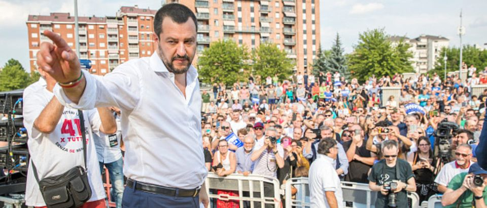 Italian Minister of the Interior Matteo Salvini In Turin