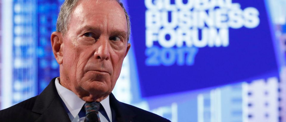 Former New York City Mayor and founder of Bloomberg L.P., Michael Bloomberg, listens at The Bloomberg Global Business Forum in New York, U.S., September 20, 2017. REUTERS/Brendan McDermid