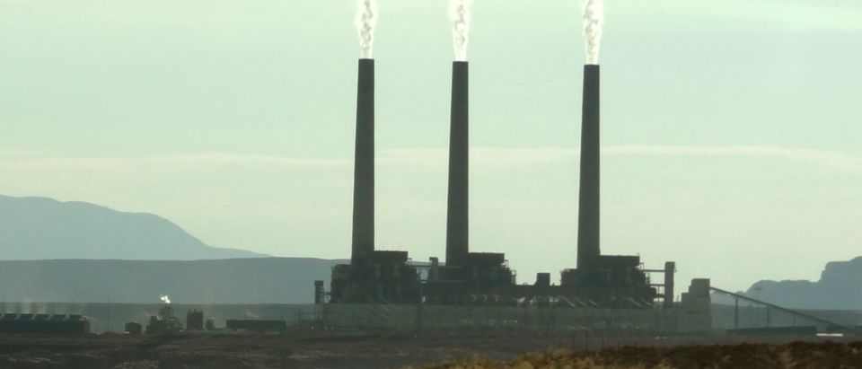 View of the Navajo power generating station near Page, Arizona