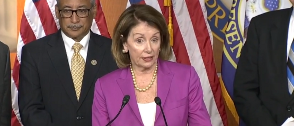 Nancy Pelosi discusses North Korean summit during Wednesday press conference (screengrab)