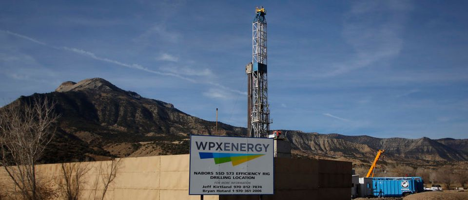 A WPX Energy natural gas drilling rig in Parachute, Colorado