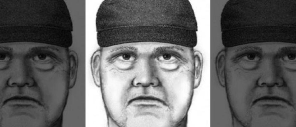 Police sketch of suspect in four shootings in Phoenix, Arizona.