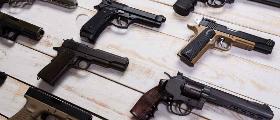 The number of firearms in the United States has surpassed the number of people, according to a report released on Monday.(Shutterstock/Fabrika Simf)