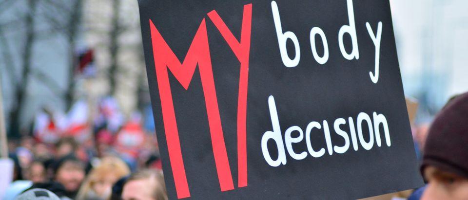 Pro-choice banner