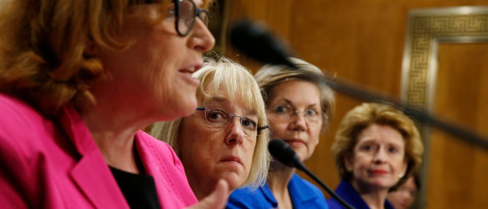 "Women senators testify during a Senate Foreign Relations sub-committee hearing on ""Combating Violence and Discrimination Against Women: A Global Call to Action"" in Washington"