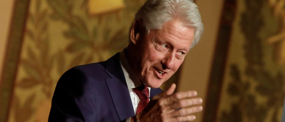 Former President Bill Clinton delivers a keynote address at Georgetown University Institute of Politics and Public Service symposium