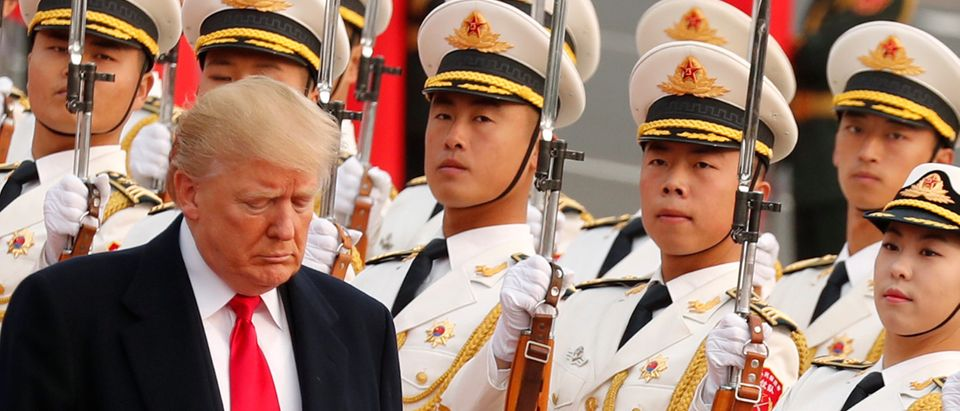 Trump makes an official visit in Beijing, China
