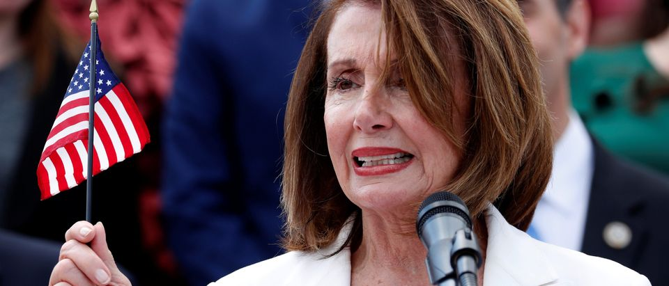 Pelosi leads Democratic members of Congress in a rally at the U.S. Capitol in Washington