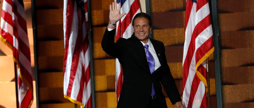 New York state Governor Cuomo walks onstage to speak at the Democratic National Convention in Philadelphia