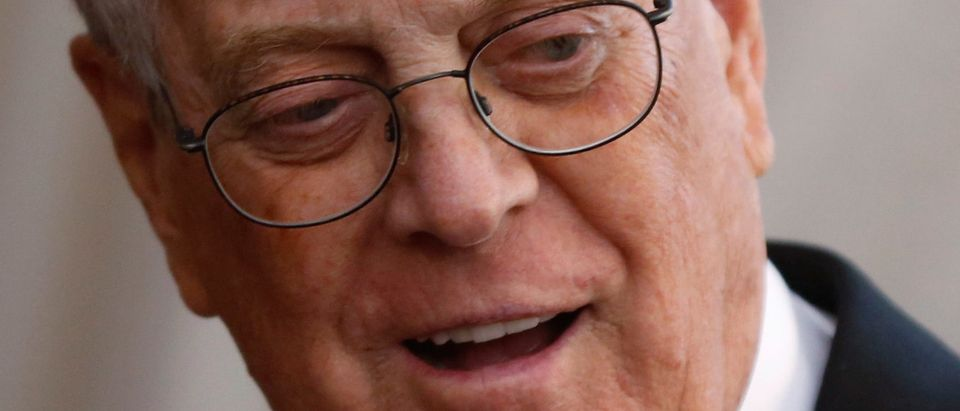 David Koch in Manhattan, New York May 4, 2015. REUTERS/Lucas Jackson/File Photo