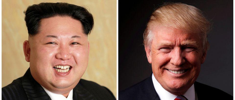 A combination photo of North Korean leader Kim Jong Un and Republican U.S. presidential candidate Donald Trump