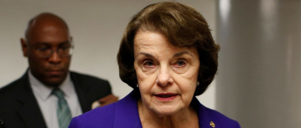 Senator Dianne Feinstein (D-CA) speaks to reporters at the U.S. Capitol in Washington