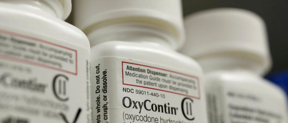 FILE PHOTO: Bottles of prescription painkiller OxyContin at a local pharmacy in Provo
