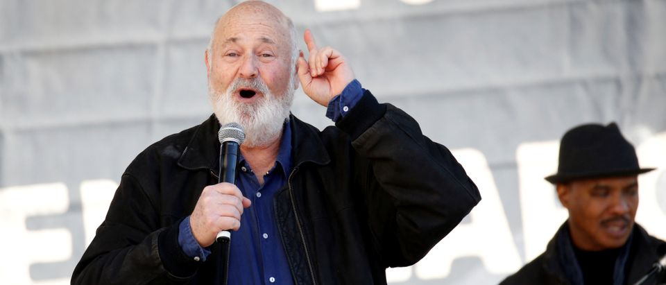 Director Rob Reiner speaks at the second annual Women's March in Los Angeles, January 20, 2018. REUTERS/Patrick T. Fallon