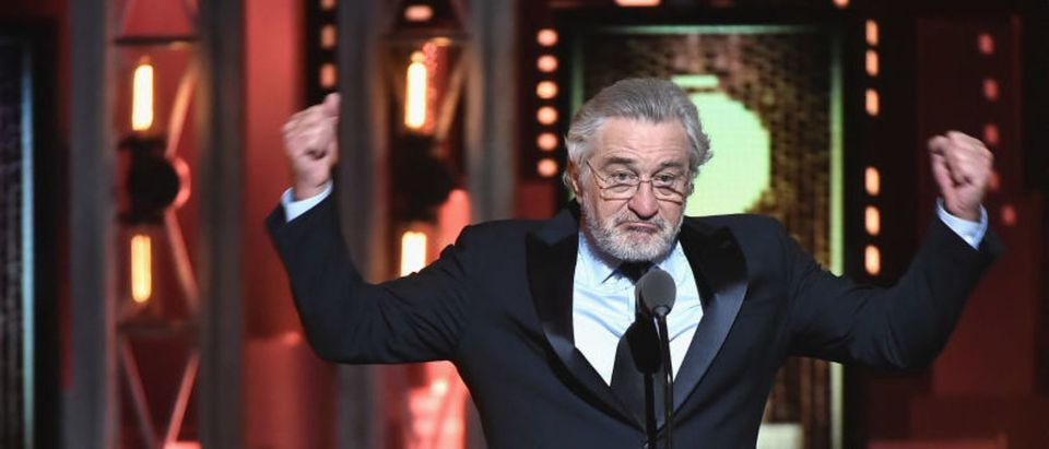 Robert De Niro speaks onstage during the 72nd Annual Tony Awards at Radio City Music Hall on June 10, 2018 in New York City. (Photo by Theo Wargo/Getty Images for Tony Awards Productions)