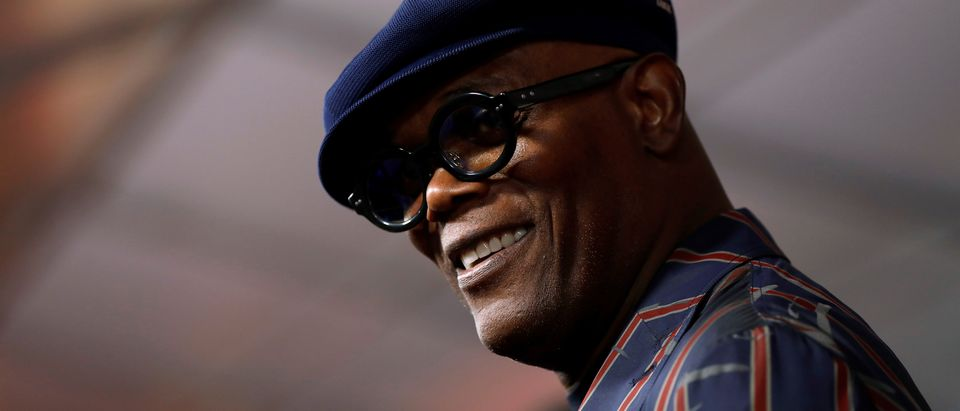 """Actor Samuel L. Jackson speaks to the media at the premiere for the movie """"Incredibles 2"""" at El Capitan theatre in Los Angeles, June 5, 2018. REUTERS/Mario Anzuoni"""