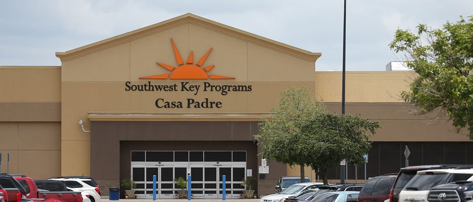 Casa Padre, an immigrant shelter for unaccompanied minors, is pictured in Brownsville