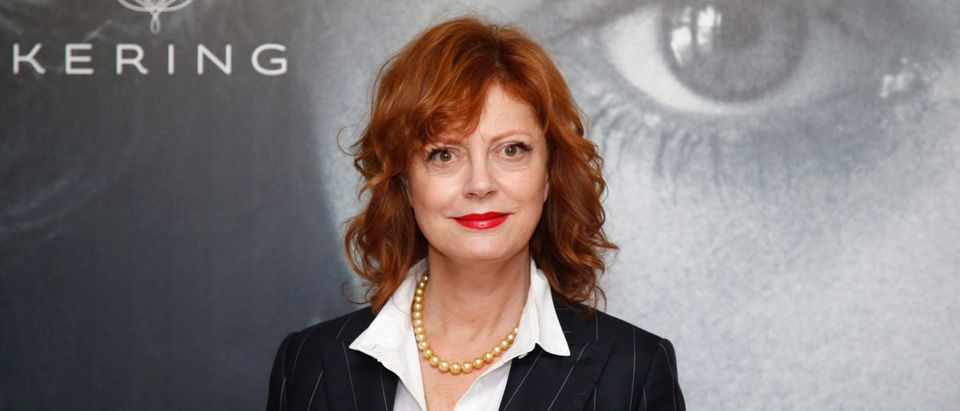 "Actress Susan Sarandon poses ahead of a debate ""Kering Women in Motion"" during the 69th Cannes Film Festival in Cannes"