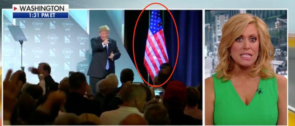 Trump Flag Hug ScreenShot/FOX NEWS
