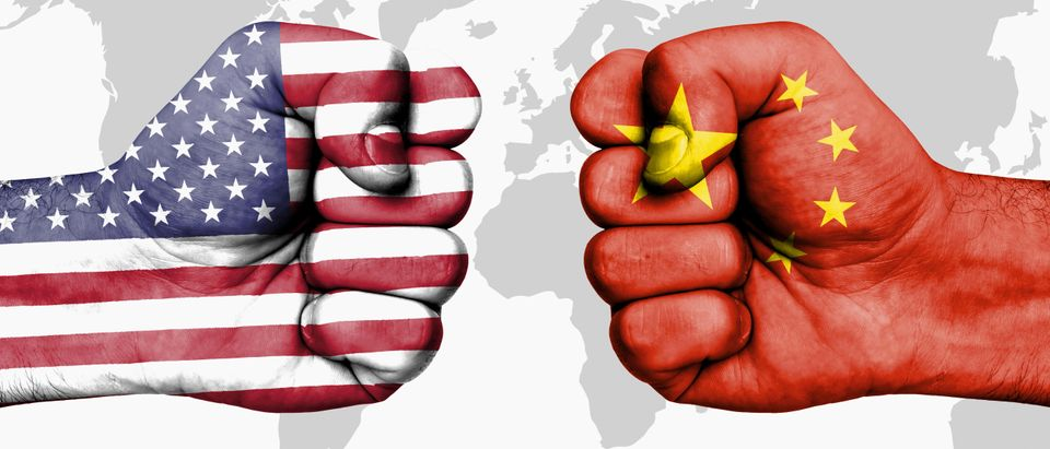 Conflict between USA and China, male fists - governments conflict concept Shutterstock/andriano.cz Royalty-free stock photo ID: 735158128