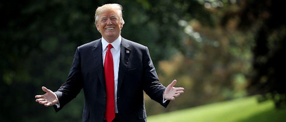 President Trump Departs White House For Nashville