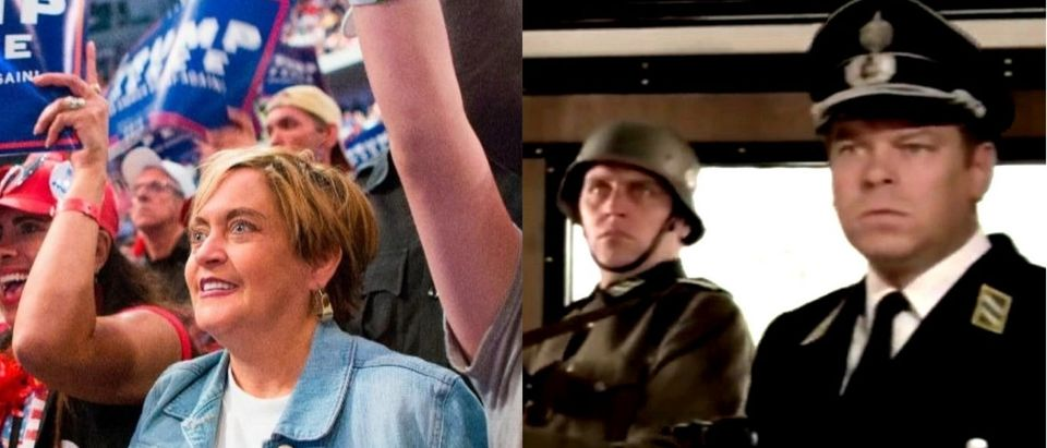 Nazi Trump supporter collage