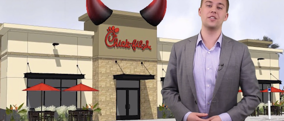 Twitter CEO Jack Dorsey apologized for going to Chick-fil-A (Screenshot/YouTube/TheDCNF)