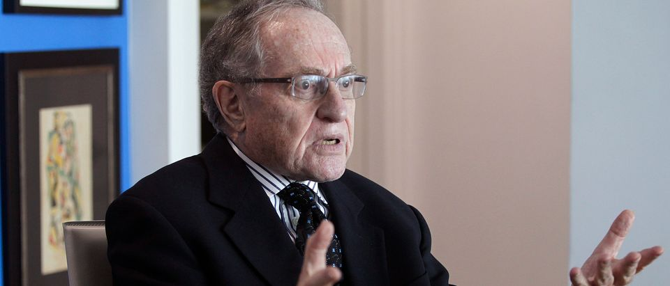 """Attorney and law professor Alan Dershowitz discusses allegations of sex with an underage girl levelled against him, during an interview at his home in Miami Beach January 5, 2015. Buckingham Palace denied on Friday allegations made in Florida court documents by a woman, who said she was forced as a minor by financier Jeffrey Epstein to have sex with several people, including Prince Andrew, the second son of Queen Elizabeth. Another of those named by the woman, Dershowitz, said he has assembled a team of """"eminent"""" lawyers to fight the sexual abuse allegations made against him in last week's filing in Florida federal court. REUTERS/Andrew Innerarity (UNITED STATES - Tags: CRIME LAW) - GM1EB1609MM01"""