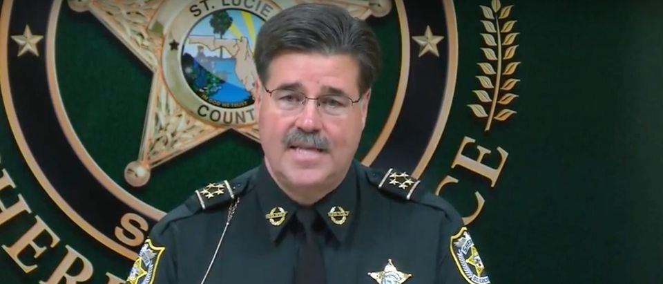 St. Lucie County Sheriff Ken Mascara gives press conference on deputy-involved shooting of Gregory Vaughn Hill Jr, 2014./Screenshot