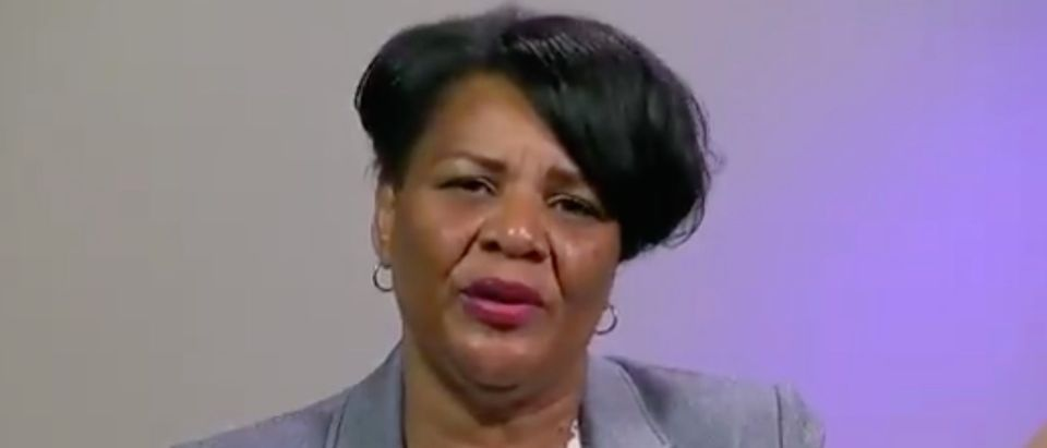 Alice Marie Johnson thanks President Trump after her first night of freedom./Screenshot
