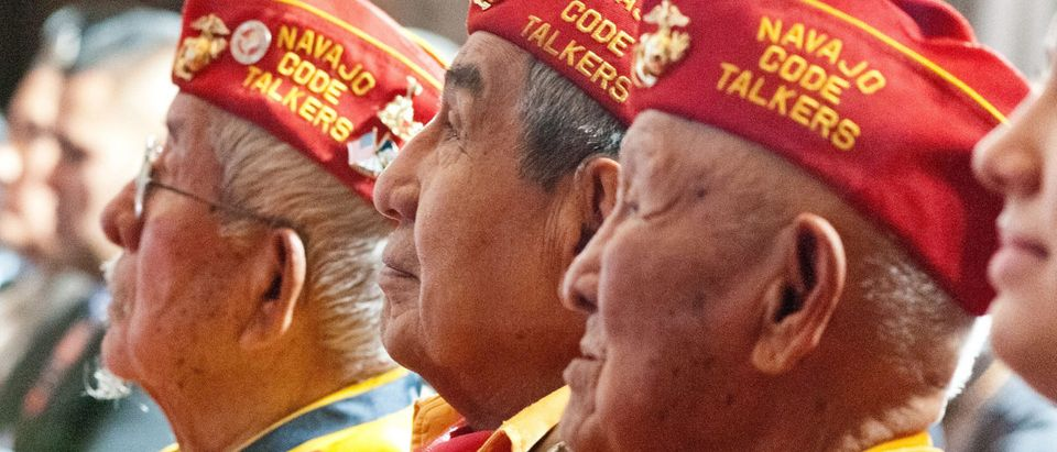 Navajo Code Talker veterans attended the 2012 Fourth Annual White House Tribal Nations Conference at the U.S. Department of Interior in Washington D.C. on Wednesday, Dec. 5, 2012. USDA photo by Bob Nichols via Flickr.