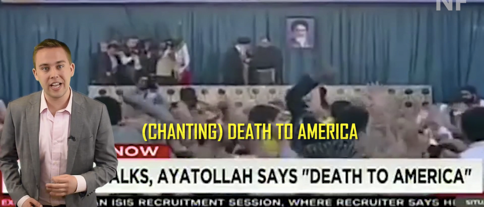 President Obama gave Iran billions and they're using it to fun terrorism (Screenshot/YouTube/DCNF)
