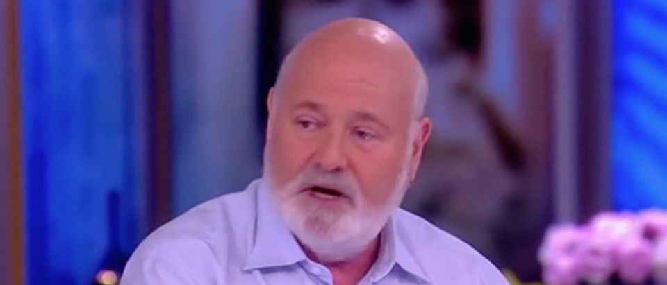 Rob Reiner claims Trump is first president to enjoy the support of mainstream media./Screenshot