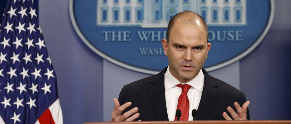 U.S. Deputy National Security Advisor Ben Rhodes speaks about Obama's upcoming visit to Cuba at the White House in Washington February 18, 2016. U.S. President Barack Obama on Thursday announced a historic visit to Cuba next month, speeding up the thaw in relations between the two Cold War former foes but igniting opposition from Republicans at home.REUTERS/Kevin Lamarque - GF10000314089