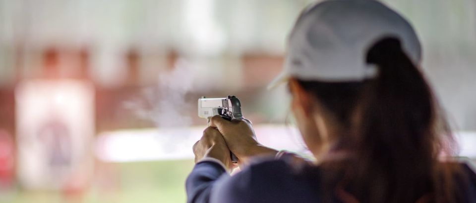 """Educators were treated to a free firearms training session in San Diego on Sunday for """"Train a Teacher Day."""" Shutterstock/Iam_Anupong"""