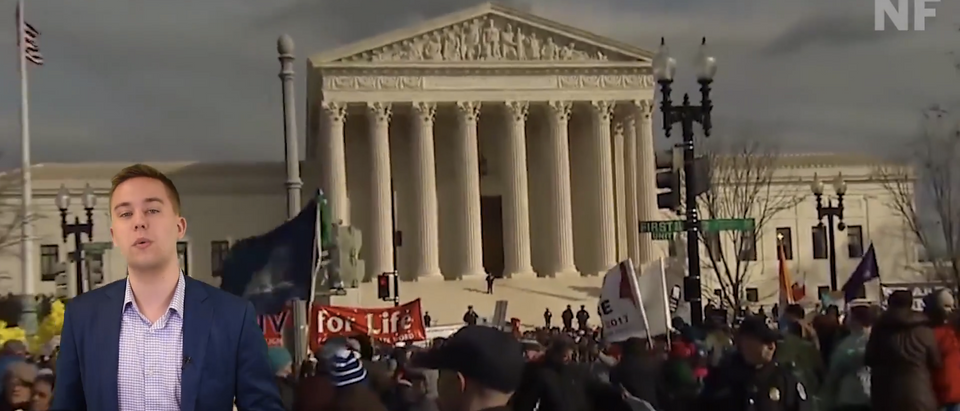 What does Trump's nomination of Judge Brett Kavanaugh to the Supreme Court mean for Roe V. Wade (Screenshot/YouTube/DCNF)