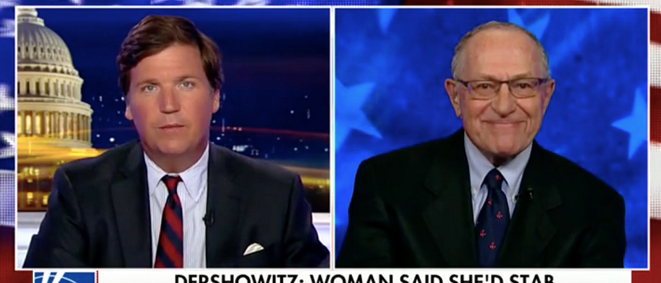 Alan Dershowitz challenges Morning Joe to a debate, says a woman wanted to 'stab him in the heart.' (Fox News:Screenshot)