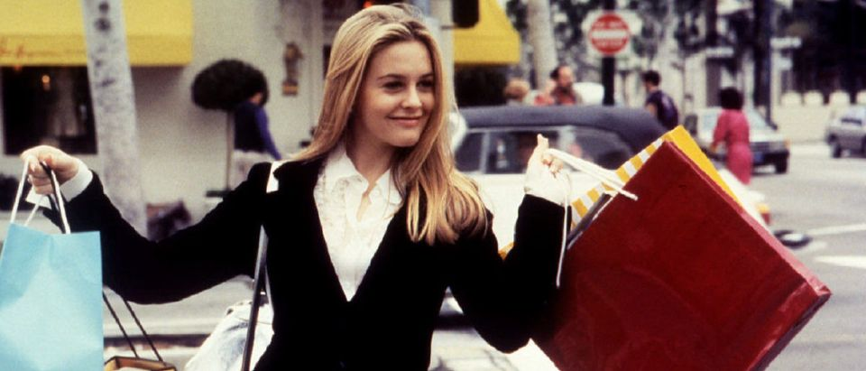"""Actress Alicia Silverstone is shown as she portrays a young woman """"Cher"""" in the film """"Clueless"""" a ro.."""