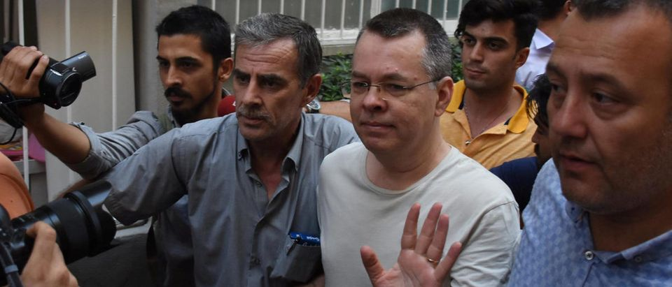 Andrew Brunson returns home after being released from Turkish prison, July 25, 2018. (Demiroren News Agency, via Reuters)